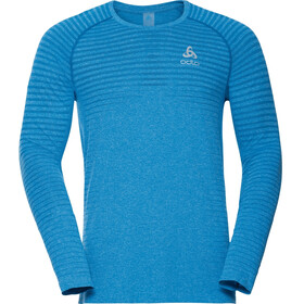 Odlo Seamless Element Crew Neck LS T-Shirt Men tumultuous sea melange